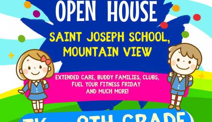 Join us for Transitional Kindergarten to 8th Grade Open House flyer image